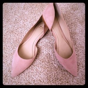 Marc Fisher suede blush colored flats